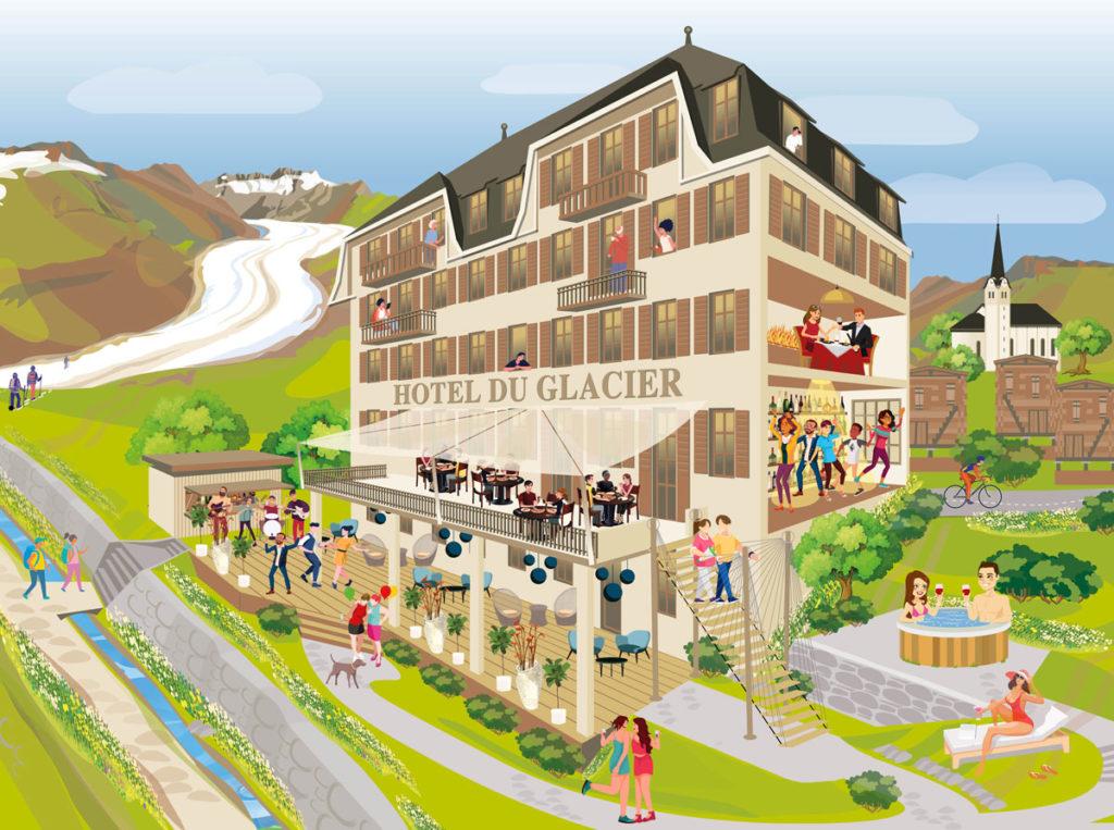 Lounge & Garten Edelskull du Glacier