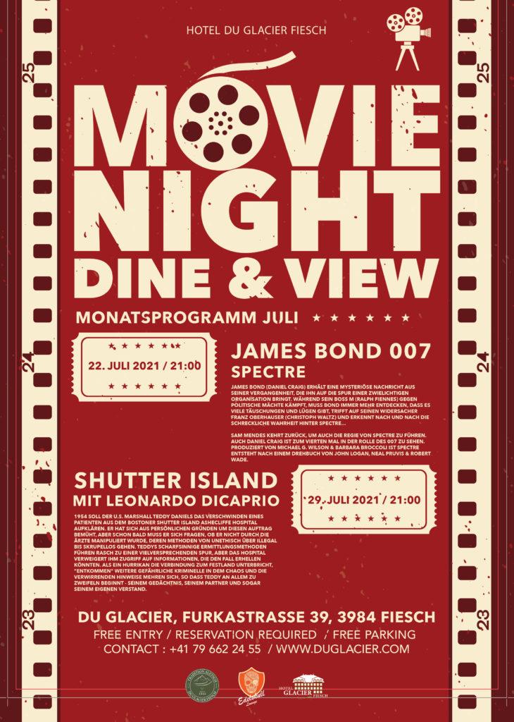 MOVIE NIGHT DU GLACIER – Dine & View